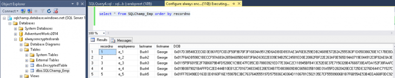 Configure Always Encrypted on existing table with data