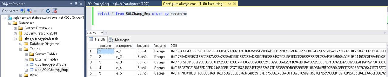 Always Encrypted validation