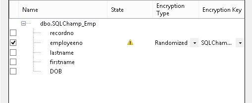 Always Encrypted step 3