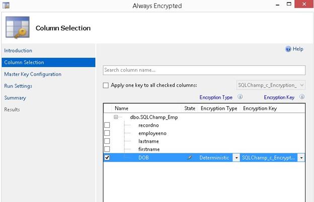 Always Encrypted step 4