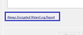 Always Encrypted - log Report link
