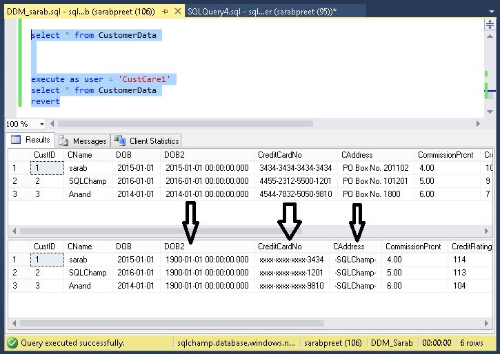 Configure Dynamic Data Masking using Azure SQL Database portal